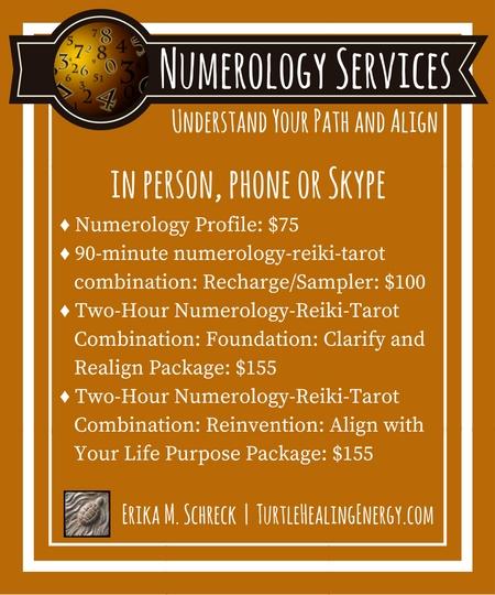 Numerology Services with Erika M. Schreck