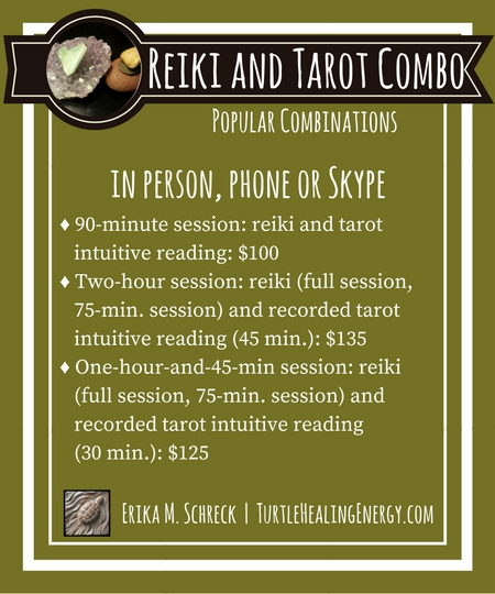 Reiki and Tarot Sessions with Erika M. Schreck