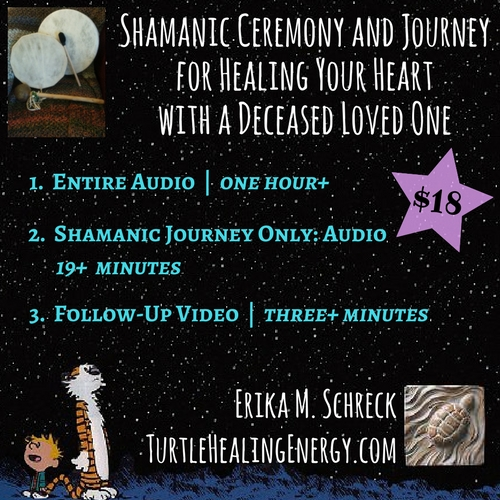 Shamanic Ceremony and Journey for Healing Your Heart with a Deceased Loved One, Erika M. Schreck, Turtle Healing Energy, Shamanism